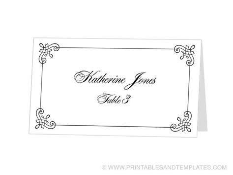 Free Tent Place Cards Template by Tent Place Card Template