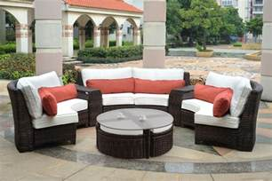 Furniture Outdoor Patio Fiji Curved Outdoor Resin Wicker Patio Sectional Clubfurniture