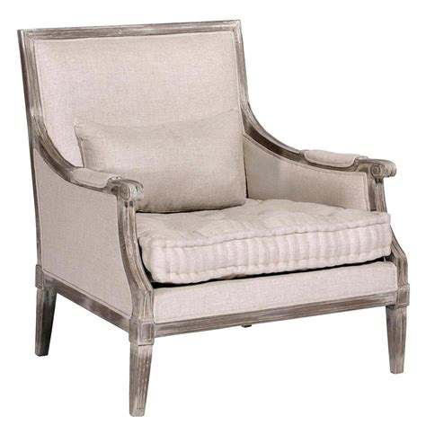 country armchair victor french country square back tufted linen bergere