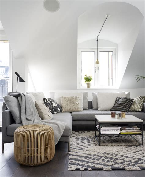 living room salon decordots an apartment with sloped ceiling