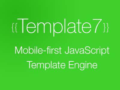 javascript template engine template7 mobile javascript template engine