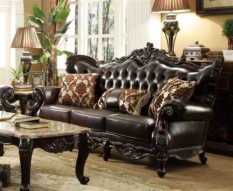 brown leather tufted sofa tufted leather sofas furniture shop factory direct