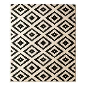 teppich weiß schwarz teppich raute schwarz 80 x 200 cm hanse home