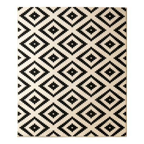 schwarz weisser teppich teppich raute schwarz 80 x 200 cm hanse home