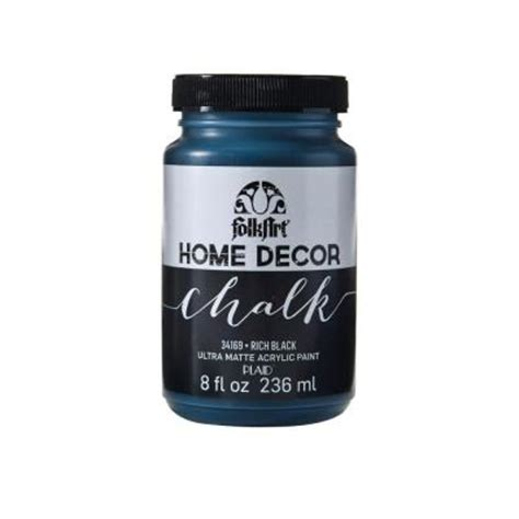 chalk paint wax home depot folkart home decor 8 oz rich black ultra matte chalk