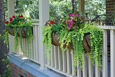 Porch rail flower boxes into the glass 24 beautiful adjustable railing planters