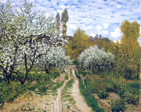 trees in bloom claude monet wikiart org encyclopedia of visual arts