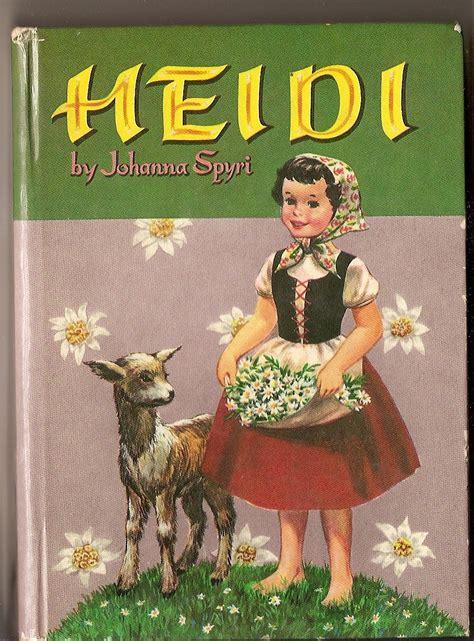 heidi vintage storybook by johanna spyri by vintagebooklover