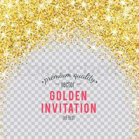 gold glitter texture isolated on transparent background