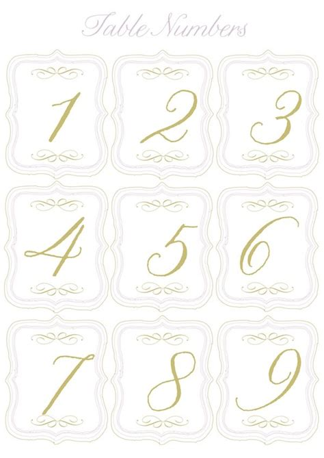 wedding table numbers printable free free printable table numbers and mini flags to up