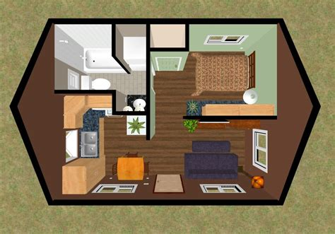 320 square feet 3d top view of the floor plan of the 320 sq ft skylight