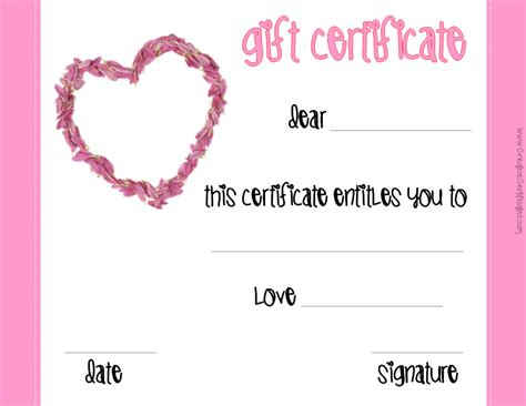 this certificate entitles the bearer to template s gift certificates