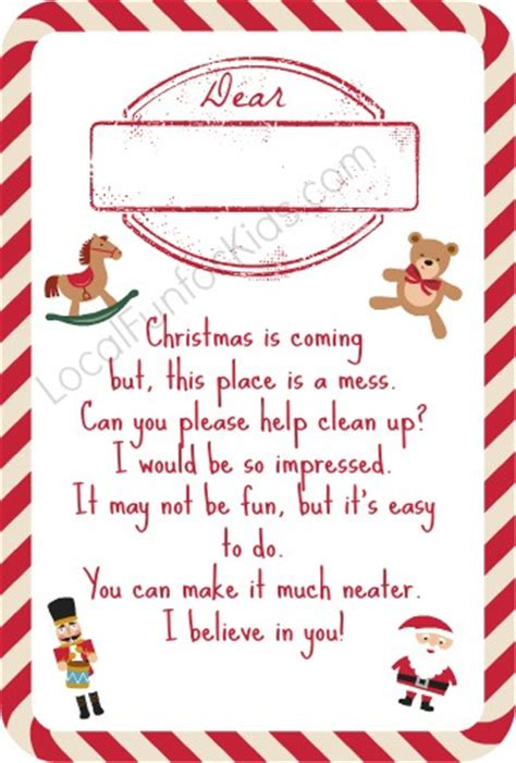 Elf On The Shelf Clean Your Room Printable | 10 free elf on the shelf printable poems local fun for kids