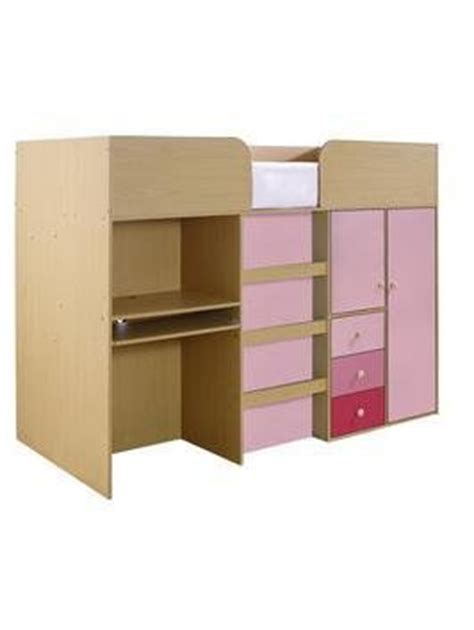Kidspace Mid Sleeper by Kidspace Metro Mid Sleeper Bed Desk And Storage For