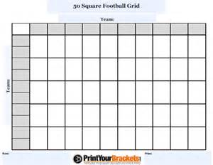 customizable 50 square football grid customize your 50