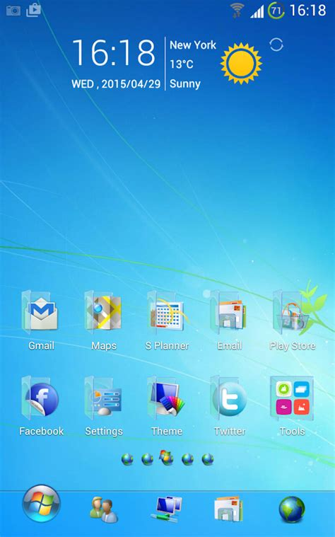 Theme Apk Windows 7 | blue windows 7 golauncher free 1 01 apk download android