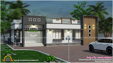 1500 Sq Ft House Floor Plans by Nice Single Floor Contemporary Home Kerala Home Design