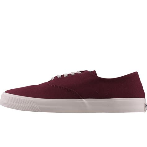 wine rubber sts sperry captains cvo sts17632 mens trainers in wine