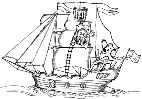 free coloring pages of a boat