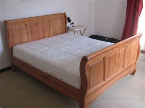 queen size sleigh bed with mattress for sale for sale in