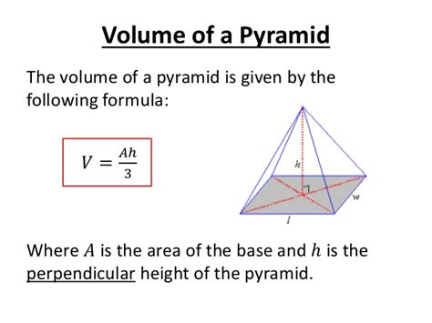 volume pyramid volume of a pyramid