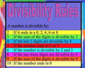 similar results divisibility rules divisibility rules 8 to