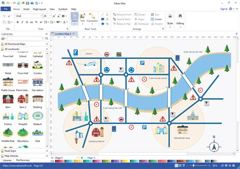 software map drawing free location map software drawing location maps easily