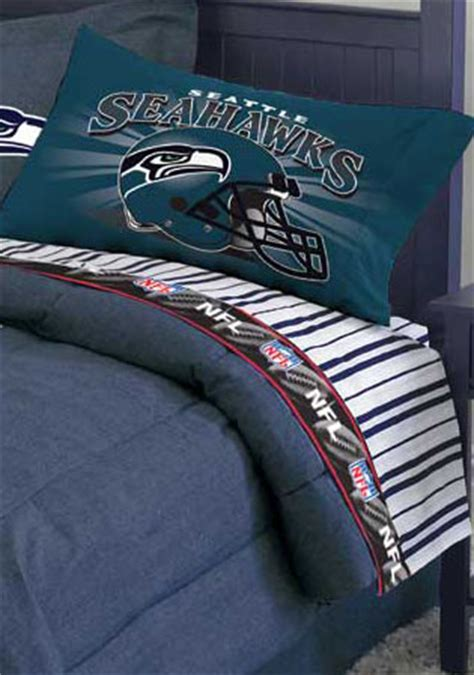 seahawks bedding twin seattle seahawks twin size pinstripe sheet set
