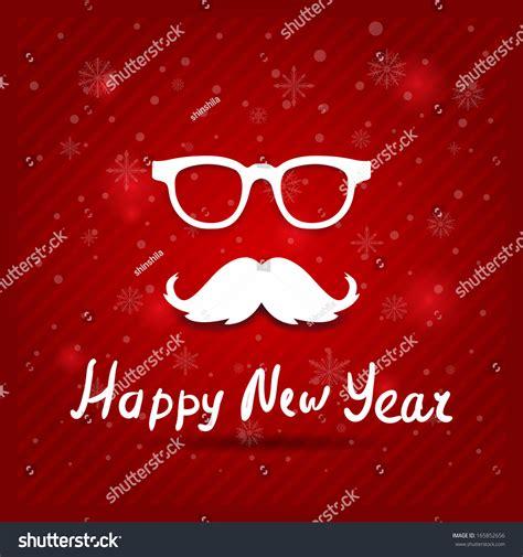 Kaos Santa Mustache Ho Ho Ho santa s mustache vector card ho ho ho 165852656