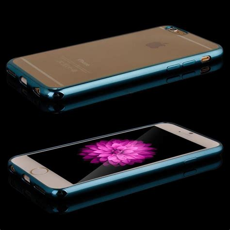 Casing Silicone Mirror Kaca For Iphone 6 Iphone6 Plus 55 shockproof silicone mirror bumper clear back cover for iphone se 5s 5c 6 6s ebay