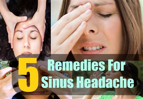 5 home remedies for sinus headache treatment and