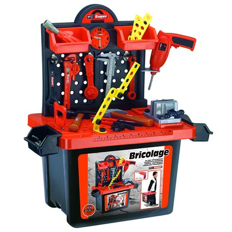 child tool bench set children s tool electric drill set 54 piece work bench