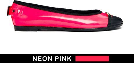 curzon neon pink flat shoes in pink neonpink lyst
