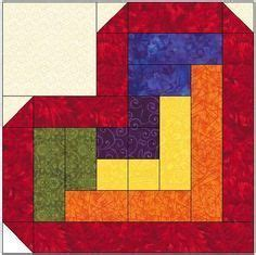 pattern for log cabin heart quilt log cabin heart quilt block pattern download pinteres