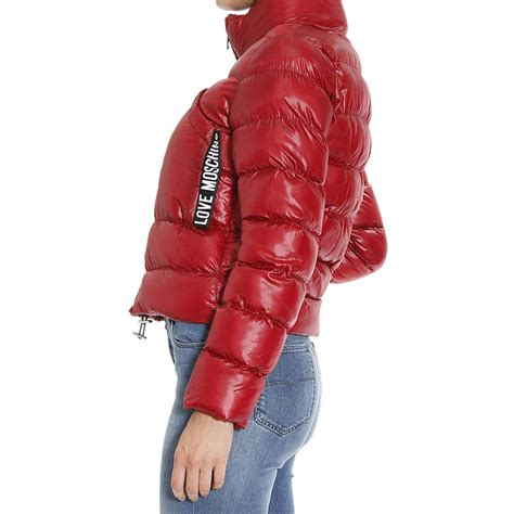 Jaket Moschino Import 1 moschino cropped quilted jacket in lyst