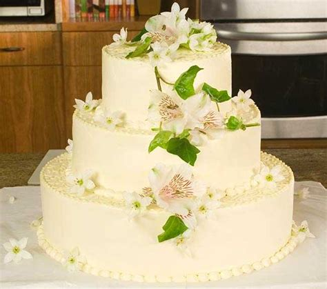 Decoration Cake Wedding by Decorating A Wedding Cake Allrecipes