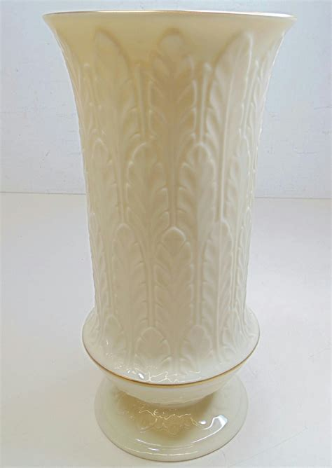 Lenox Vase With Gold Trim by Lenox China Vase Gold Trim Autumn Leaf Leaves Footed