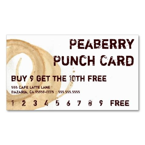 coupon punch card template 1570 best customer loyalty card templates images on