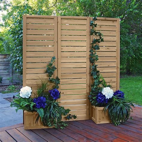 yardistry    wood privacy screen ym  home depot