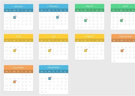 design calendar psd calendar ui flat calendar template 2016