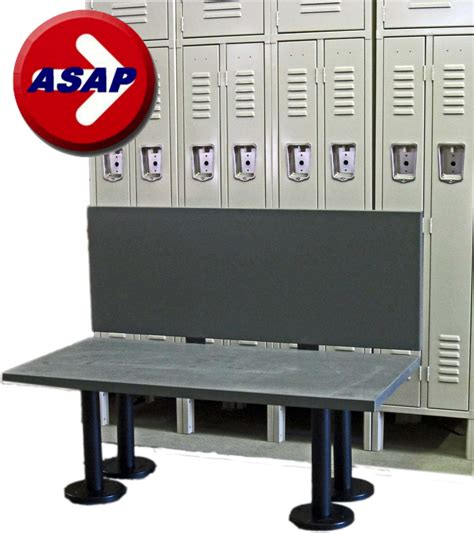 ada locker room bench ada plastic locker room bench with back support and choice
