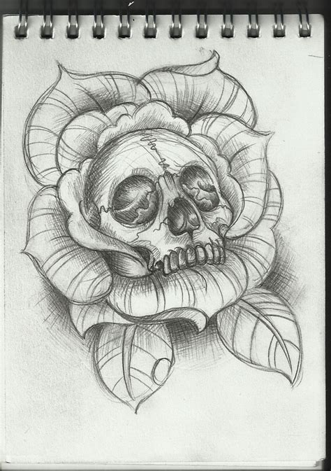 amazing rose tattoo designs skull design by frosttattoo on deviantart