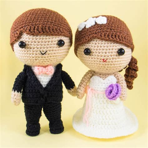 Wedding Amigurumi Pattern by Wedding Dolls Amigurumi Crochet Wedding Flower And Patterns