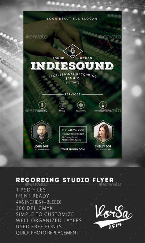 Recording Studio Flyer Flyers Studios And Flyer Template Studio Flyer Template