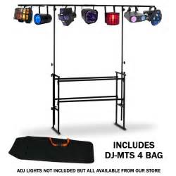 Bar Height Round Table American Audio Dj Mts 4 4ft Adjustable Mobile Dj Stand