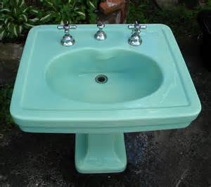 green bathroom sink antique kohler green pedestal sink