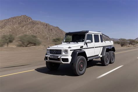 mercedes 6 wheel six wheel drive mercedes g63 amg suv 6x6