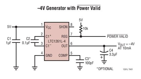 capacitor voltage inverter ltc1261l switched capacitor regulated voltage inverter linear technology
