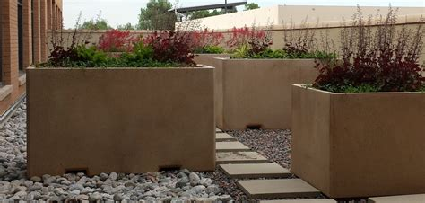 concrete planters 6ft rectangular concrete planter site furnishings