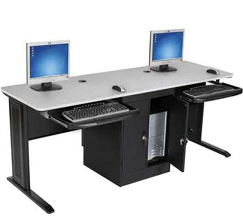 dual user locking cpu cabinet workstation